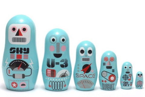 OMM DESIGN POCKET NESTING DOLLS ROBOT