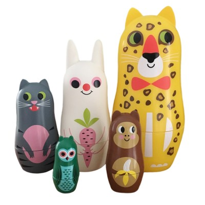 omm design animal nesting dolls 'ears'