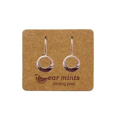 mints earrings 'open circle fh hook' rose gold