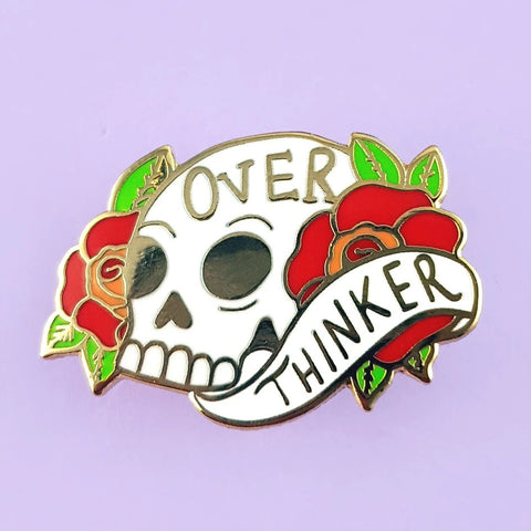 jubly-umph enamel pin 'over thinker' - the-tangerine-fox