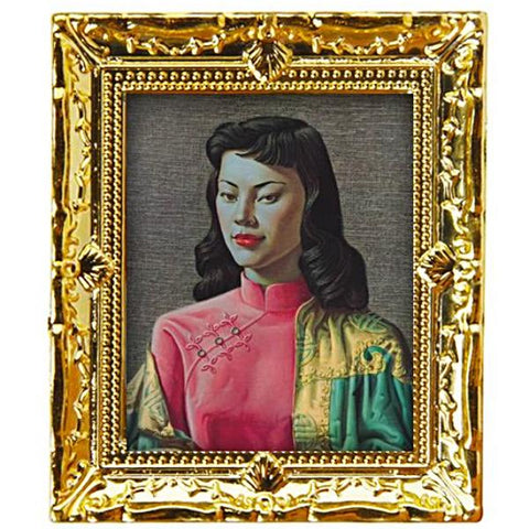miniature picture frame 'tretchikoff miss wong' painting gold