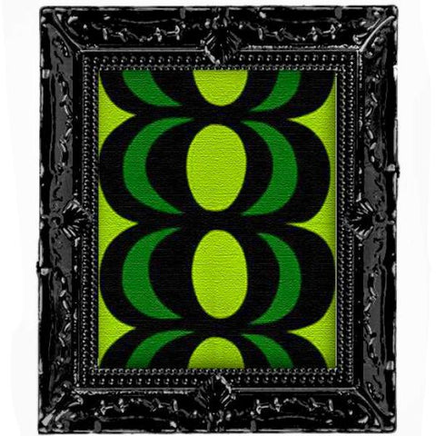 miniature picture frame 'marimekko kaivo green pattern' black