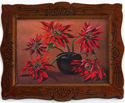miniature picture frame 'tretchikoff proteas' painting gold