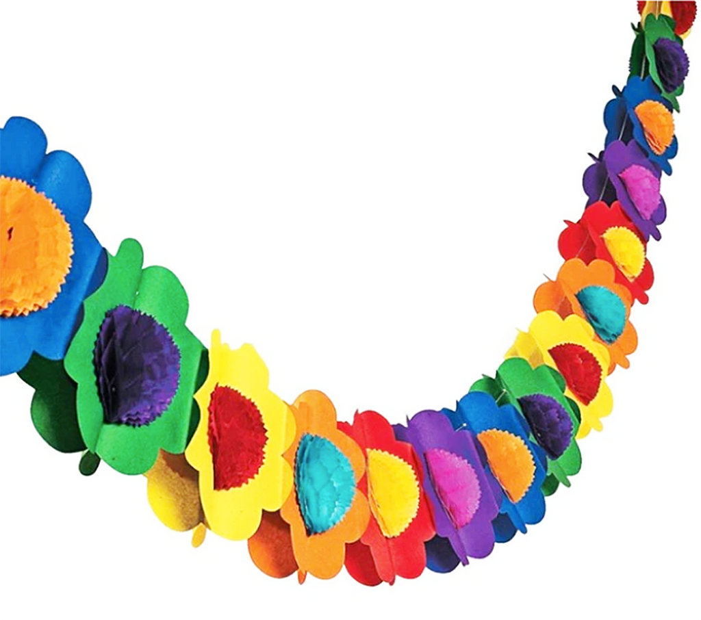 paper garland 'honeycomb flowers' multicolour