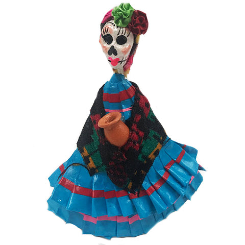 mexican figurine 'day of dead lady' - the-tangerine-fox