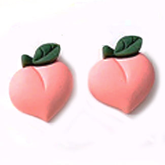 sugar earrings polymer 'peach' studs