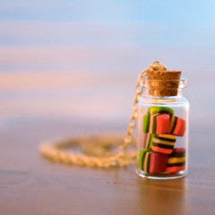 PECULIAR HARVEST 'LICORICE ALLSORTS JAR' NECKLACE