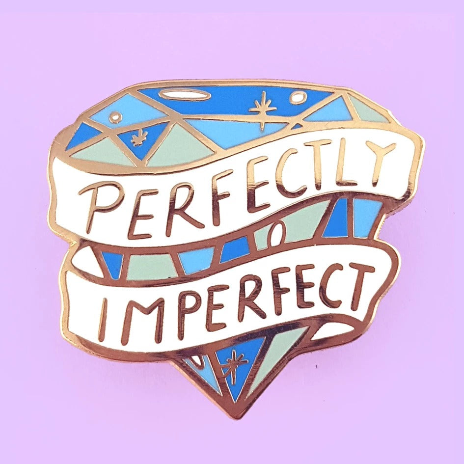 jubly-umph enamel pin 'perfectly imperfect' - the-tangerine-fox