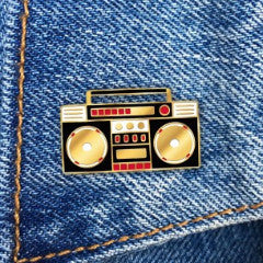 THE FOUND 'BOOMBOX' ENAMEL PIN