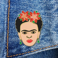 THE FOUND 'FRIDA POINSETTIA' ENAMEL PIN