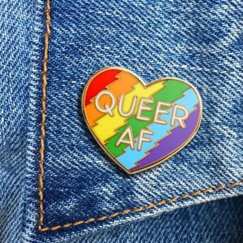 THE FOUND 'QUEER AF' ENAMEL PIN