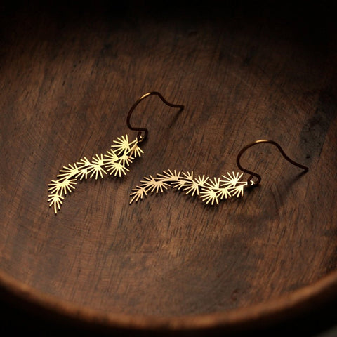 moorigin earrings 'pine' gold small - the-tangerine-fox