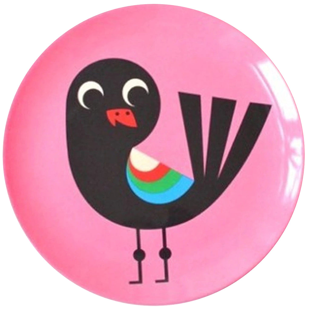 omm design melamine plate 'pink bird' - The Tangerine Fox