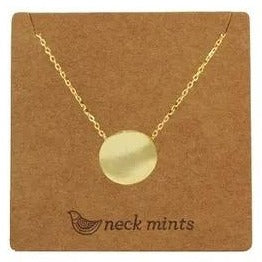 mints necklace 'plain disc' gold