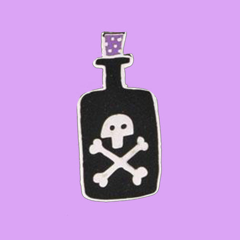 u studio enamel pin 'poison bottle' - the-tangerine-fox