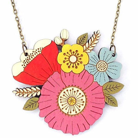 layla amber necklace 'poppy posy' - the-tangerine-fox