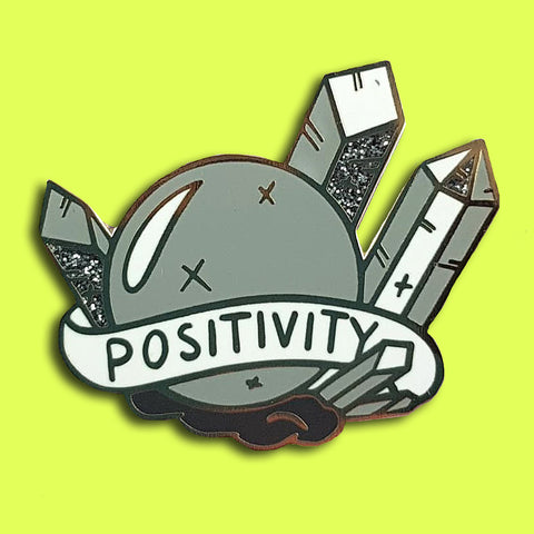 jubly-umph enamel pin prism of positivity