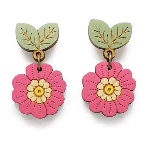 layla amber earrings 'wild primrose' drop studs