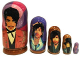 russian babushka dolls 5 set 'prince' large - the-tangerine-fox