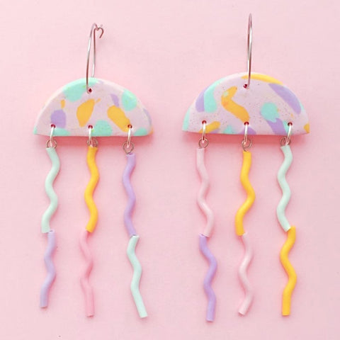 renee damiani earrings 'jellyfish' candy crush magic