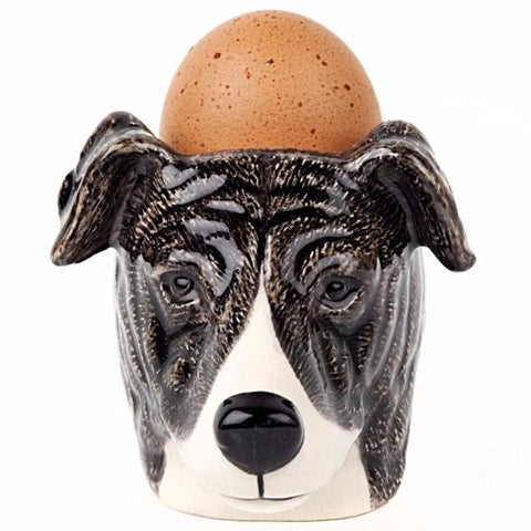 quail ceramics face egg cup 'greyhound'