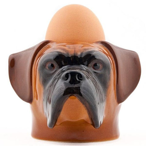 quail ceramics face egg cup 'boxer' - the-tangerine-fox