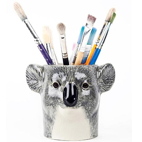 quail ceramics pencil pot 'koala'