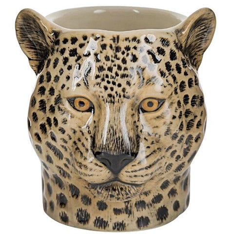 quail ceramics pencil pot 'leopard'