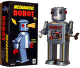 retro tin toy 'big eye robot' silver large