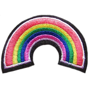 embroidered patch 'rainbow'