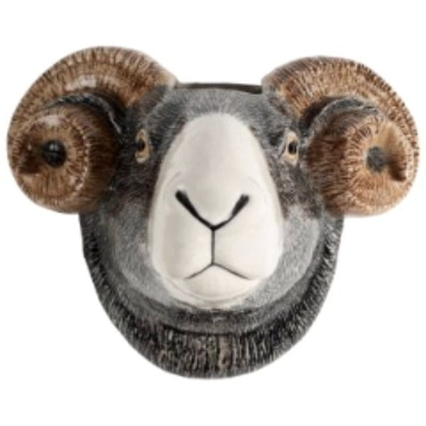 QUAIL WALL VASE 'SWALEDALE SHEEP'