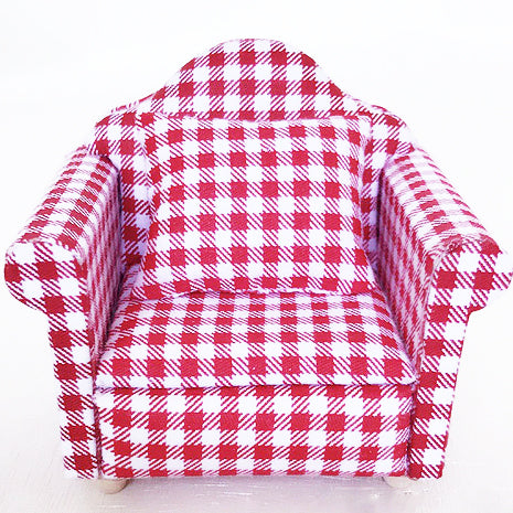 miniature chair 'gingham armchair' red - the-tangerine-fox