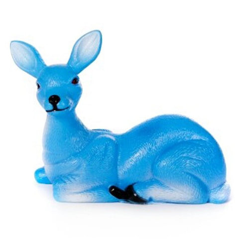 acorn & will figurine 'reg the sitting deer' blue