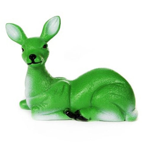 acorn & will figurine 'reg the sitting deer' green