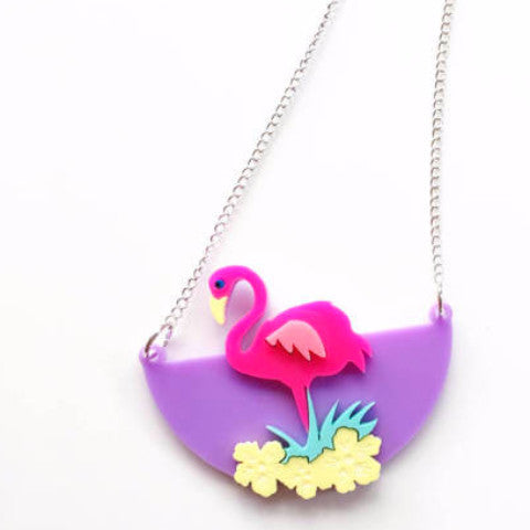 REVERE FOLIE 'FLAMINGO FUN' NECKLACE