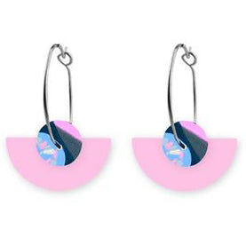 moe moe earrings 'reversible sky joan layered medium moon sleepers'