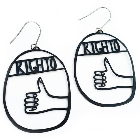 denz & co. earrings 'righto dangles' black