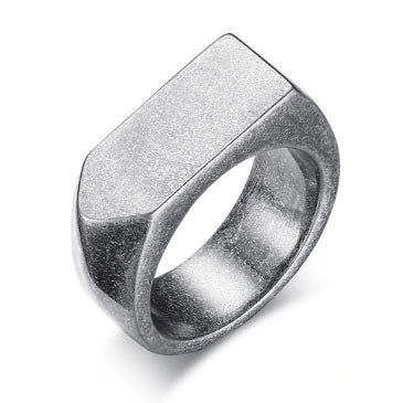 men's ring 'chunky arrow' oxidised silver