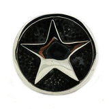 men's ring 'star signet' silver & black