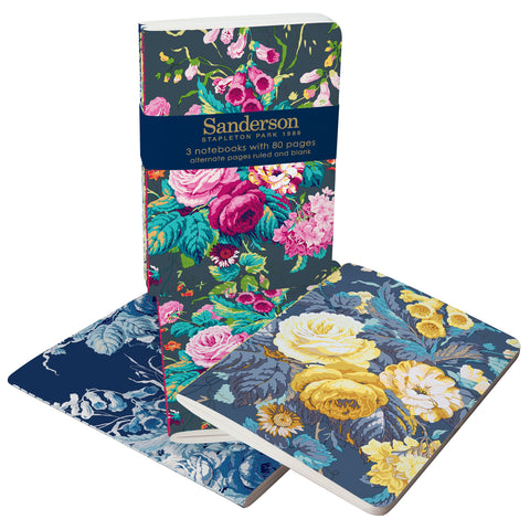 roger la borde notebook set 'sanderson floral'