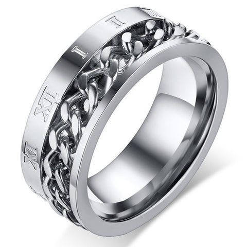 men's ring 'chain spinner' silver