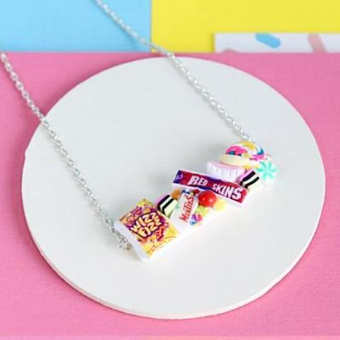 saturday lollipop necklace 'lolly bag'