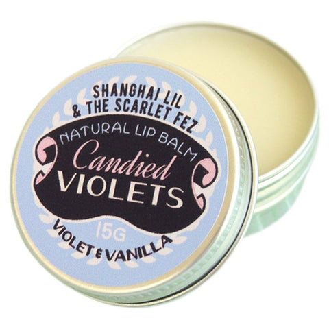 shanghai lil & the scarlet fez lip balm 'candied violets'