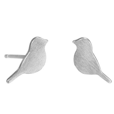 sugar earrings silver 'bird' studs