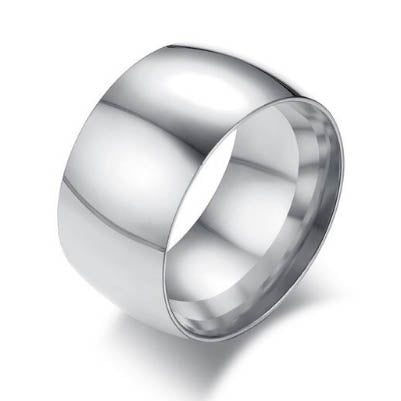 men's ring 'wide dome band' silver