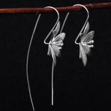 sugar earrings silver 'vintage flower drop' - the-tangerine-fox