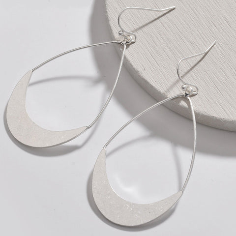 sugar earrings 'hollow teardrop' silver