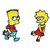 sugar earrings enamel 'the simpsons cartoon' studs