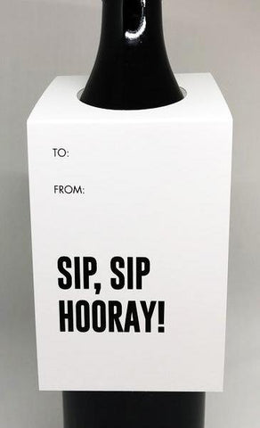 tagged australia wine tag / card 'sip, sip hooray!' - the-tangerine-fox