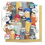 la la land greeting card 'sloths sloths sloths'